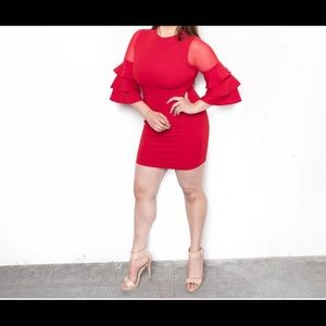 Size large worn once red dress